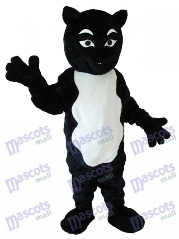 Black and White Fox Mascot Adult Costume