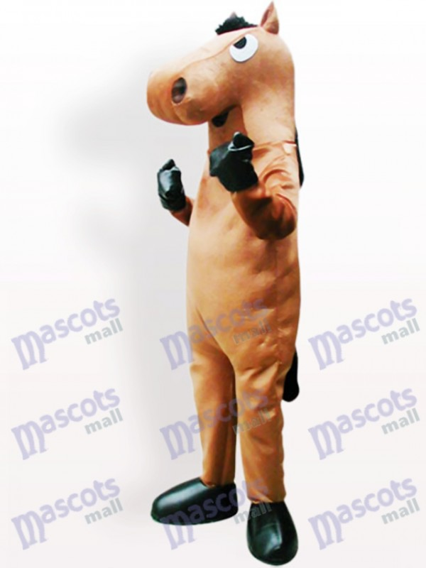 Brown Horse Adult Mascot Costume