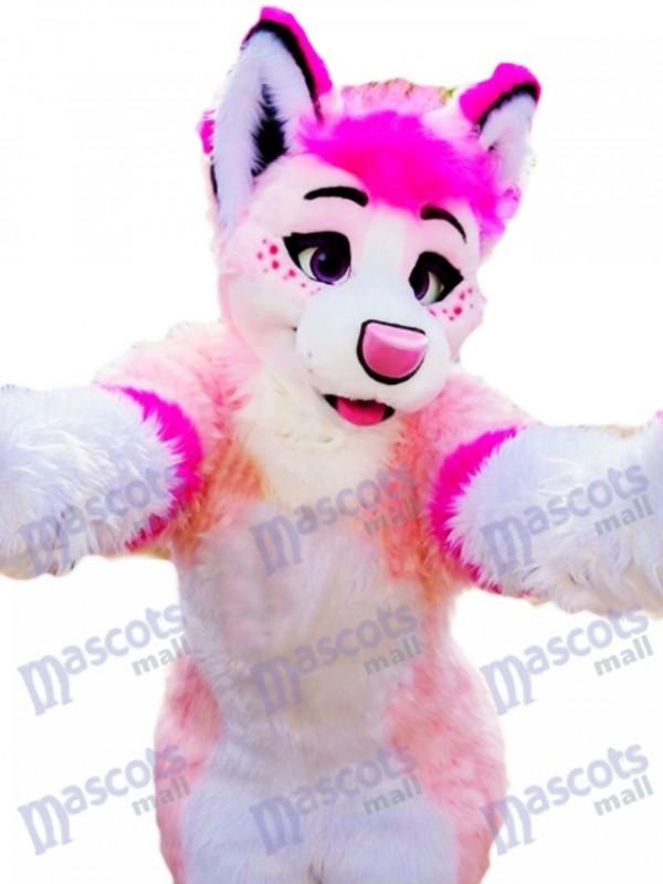 Husky Dog Adult Mascot Costume