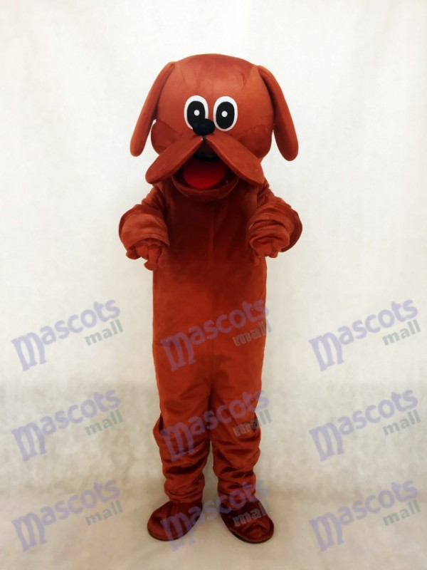 Reddish Brown Rooney Dog Mascot Costume