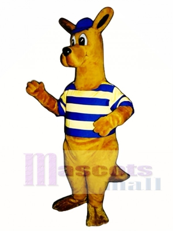 Rugby Roo kangaroo with Cap & Shirt Mascot Costume