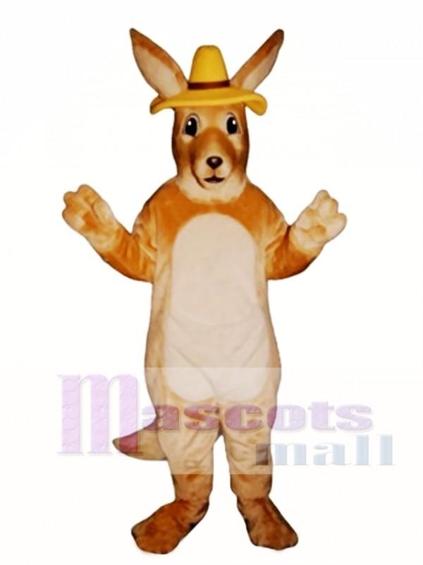 Melbourne Roo Kangaroo with Hat Mascot Costume