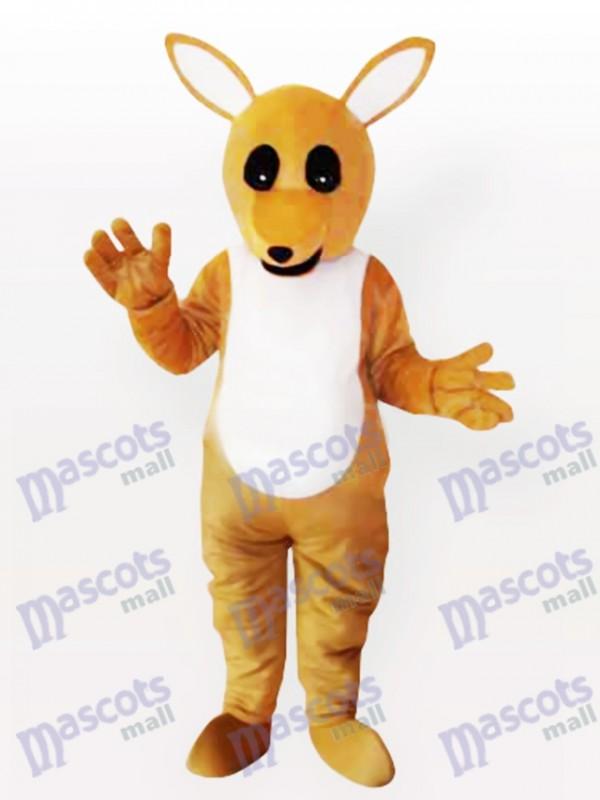 Yellow Kangaroo Adult Mascot Costume