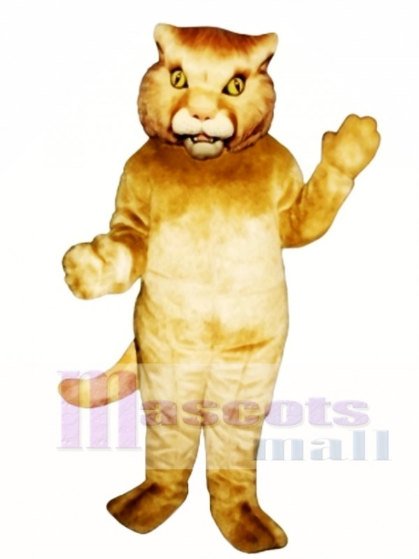 Golden Panther Mascot Costume