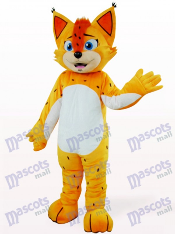 Orange Leopard With White Belly Mascot Costume