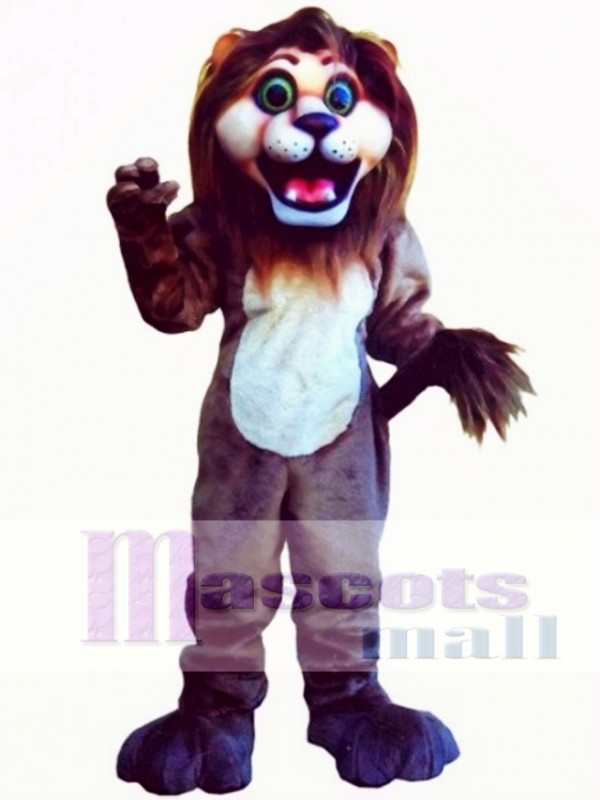 Cute Andy Lion Mascot Costume