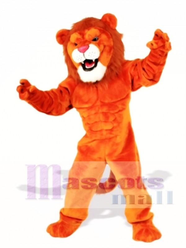 Cute Power Cat Lion Mascot Costume