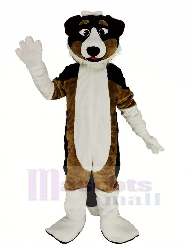 Black and Brown Shepherd Dog Mascot Costume Animal