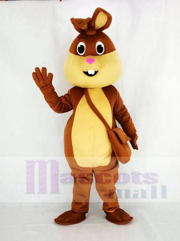 Brown Easter Bunny Rabbit Mascot Costume Cartoon