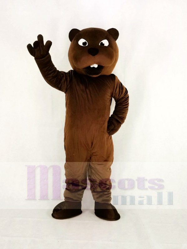 Realistic Sport Power Beaver Mascot Costume College