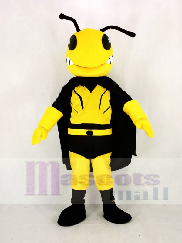 Cool Hero Bee Mascot Costume Cartoon