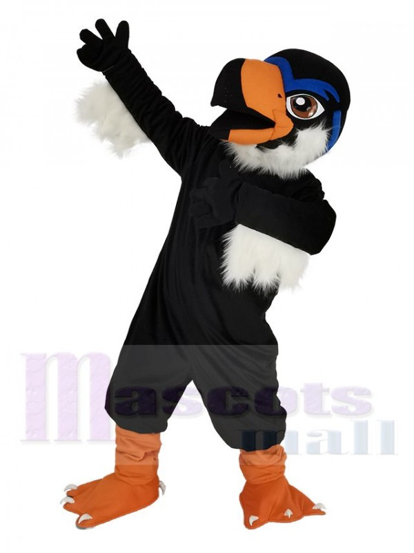 Black Fierce Eagle Mascot Costume Bird