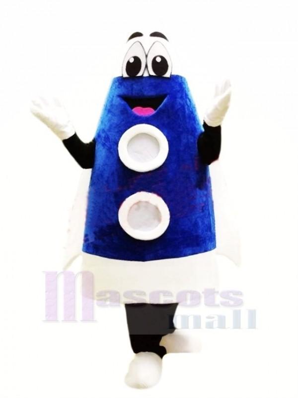Cute Blue Rocket Mascot Costume Cartoon
