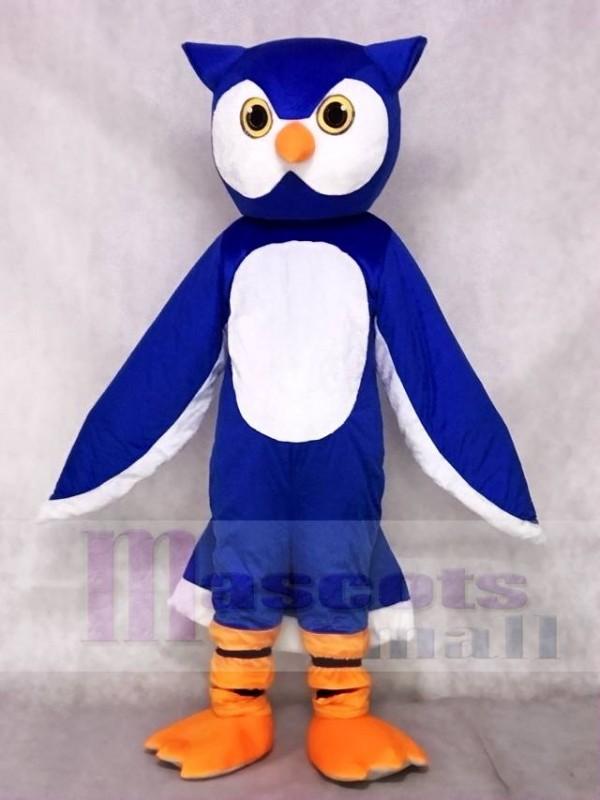 Blue Owl Mascot Costumes Animal
