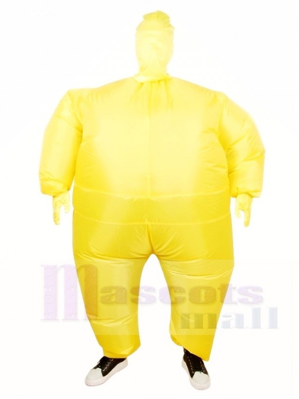 Yellow Full Body Suit Inflatable Halloween Christmas Costumes for Adults