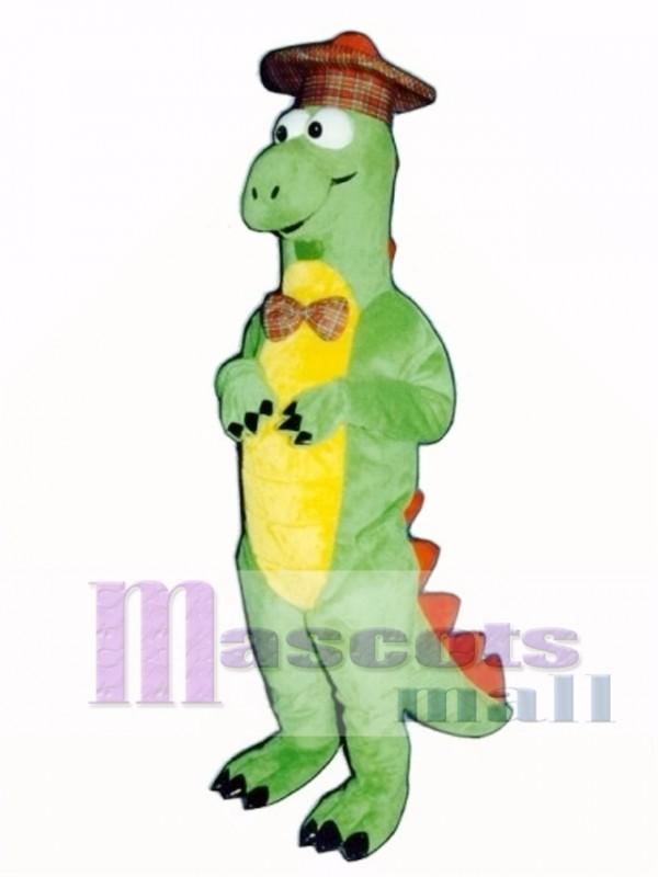 Nessie Dinosaur with Hat Mascot Costume