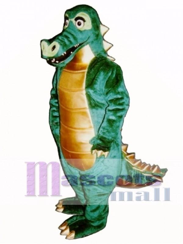 Spiked Alligator Mascot Costume