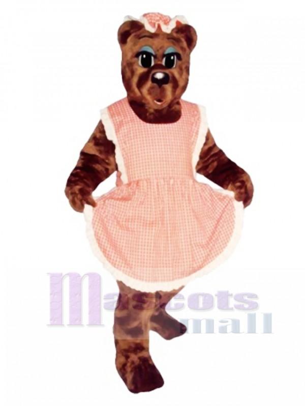 Ma Bear with Apron & Hat Mascot Costume