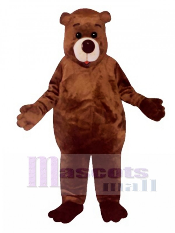Cute Chubby Bear Mascot Costume