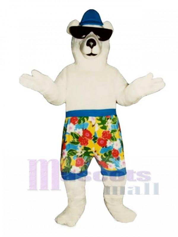 New Beach Bear with Shorts Mascot Costume