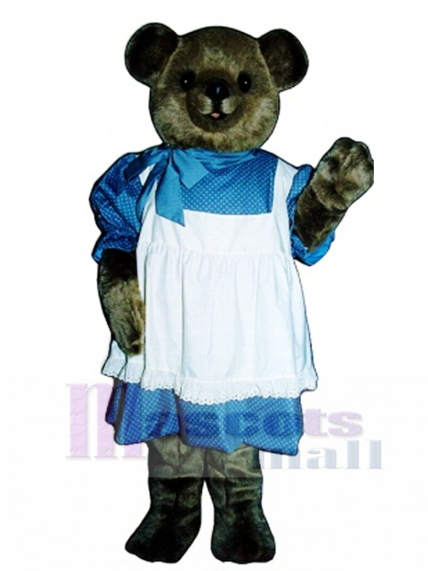 New Betsy Bear with Dress Mascot Costume
