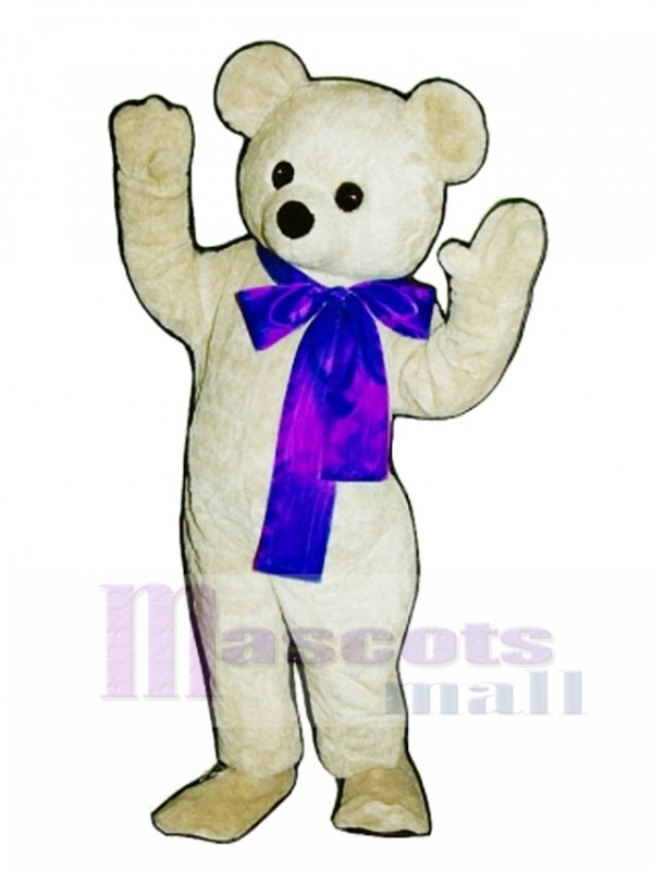 New Beau Bear with Bow Mascot Costume