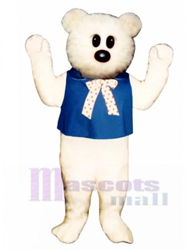 Kindergarten Bear with Bib & Tie Mascot Costume
