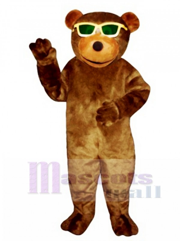 New Bear with Sunglasses Mascot Costume