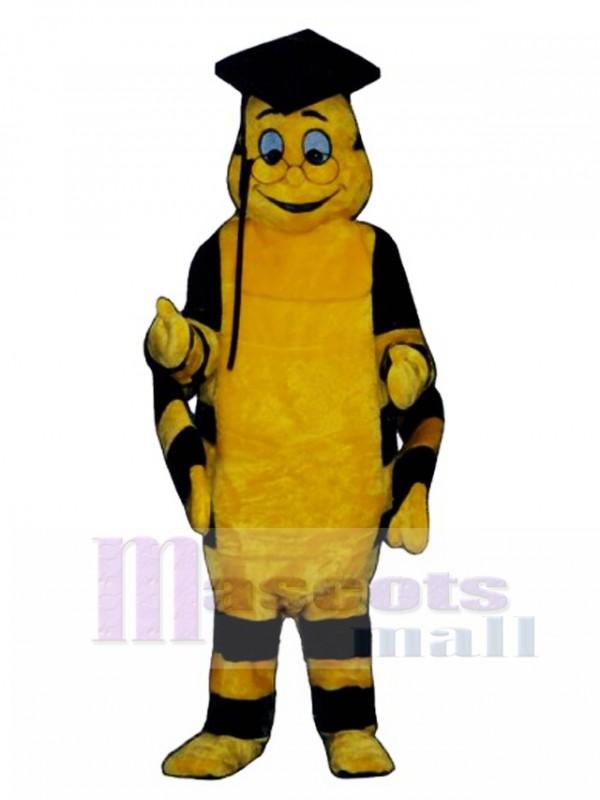 Educated Worm Mascot Costume