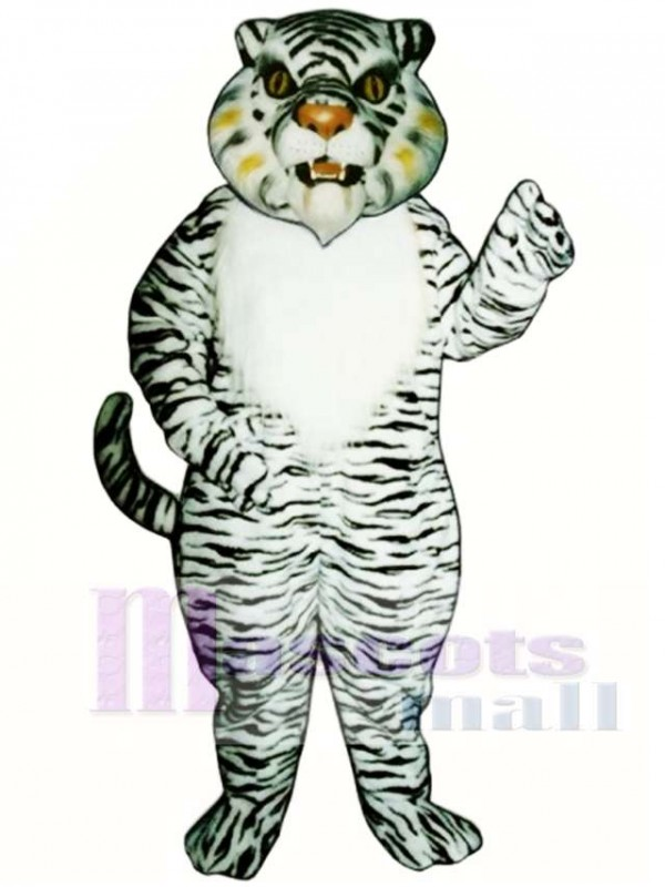 Cute White Tiger Mascot Costume