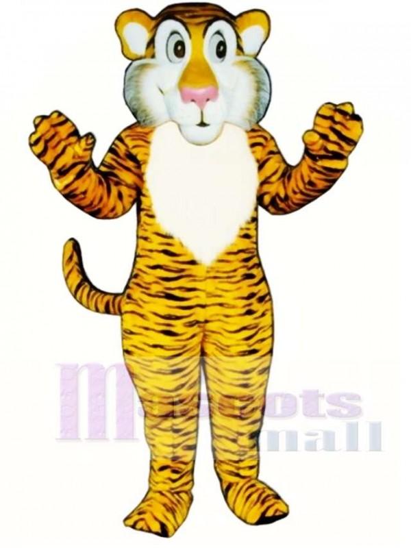 Cute Shy Tiger Mascot Costume