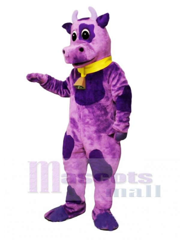 Ms Violet with Bell & Collar Mascot Costume