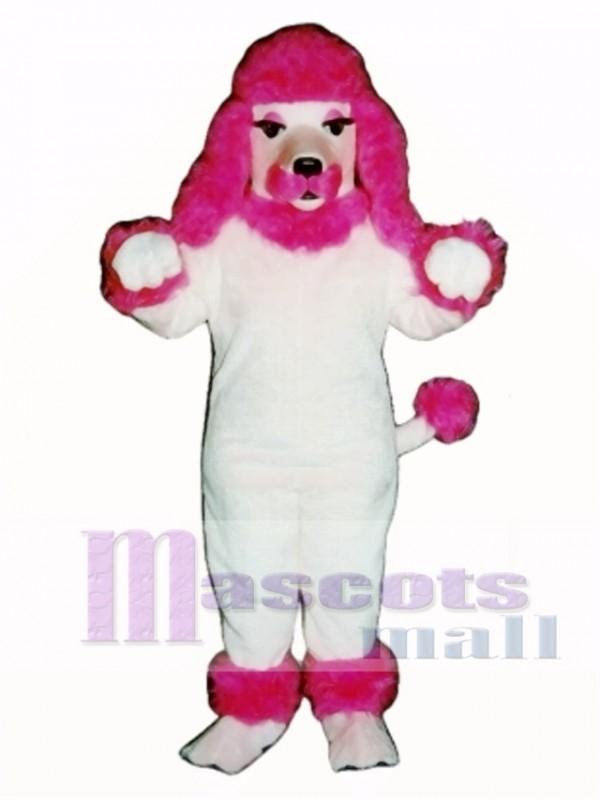 Cute Pink Poodle Dog Mascot Costume