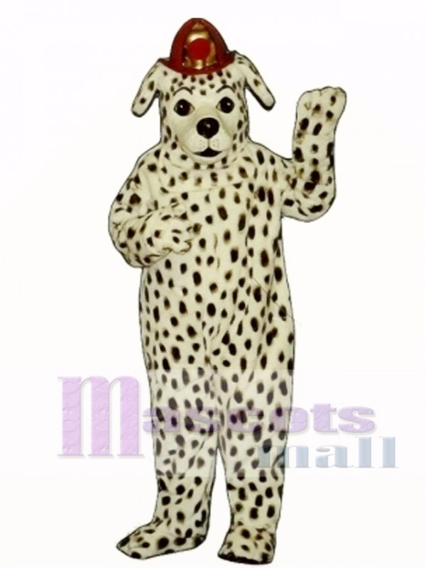 Cute Dalmatian Dog with Hat Mascot Costume