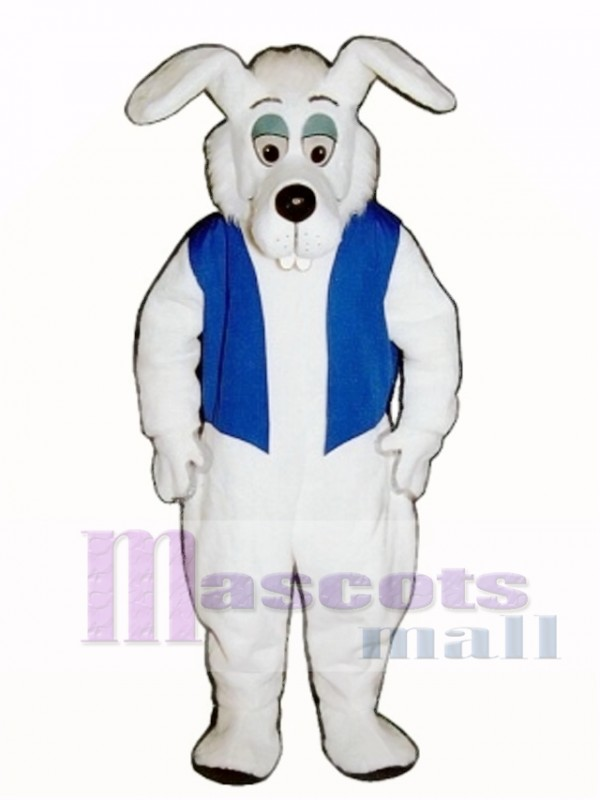 Cute Buck Tooth Dog with Vest Mascot Costume