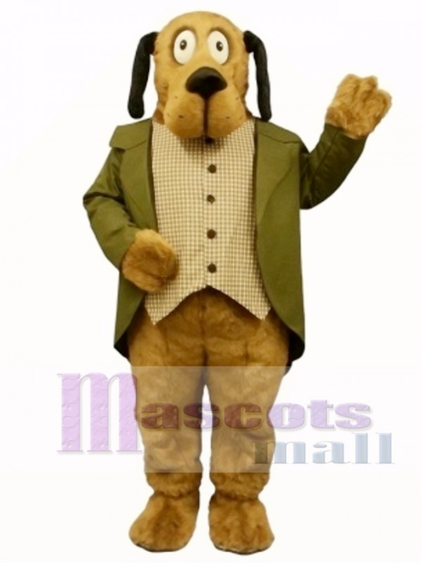 Cute Doggie Dog with Suit Mascot Costume