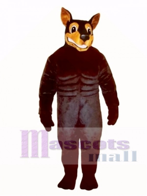 Cute Doberman Dog Mascot Costume