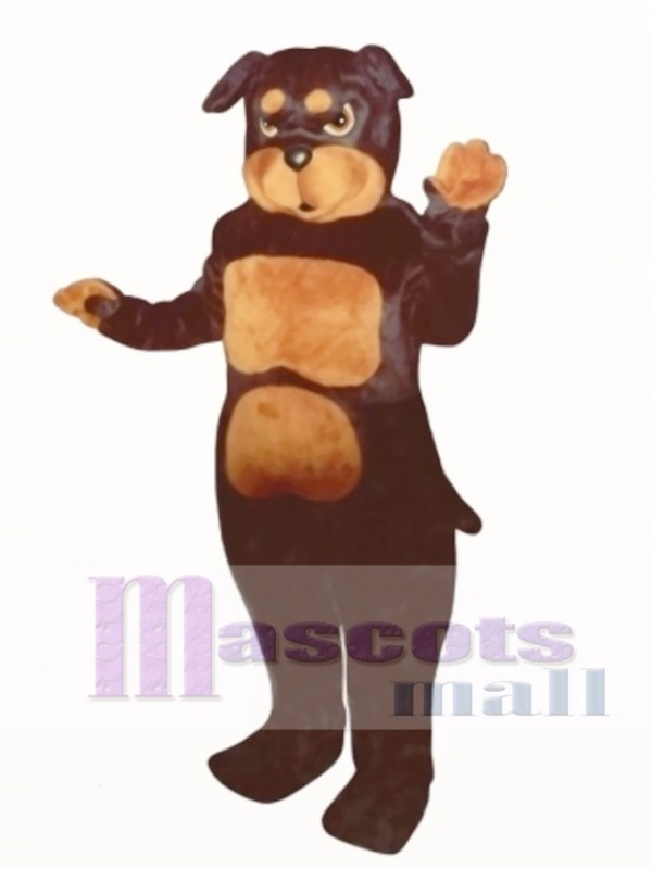 Cute Rottweiler Dog Mascot Costume