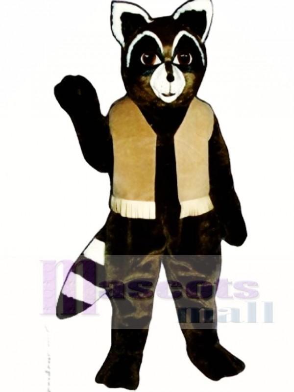 Ryan Raccoon with Vest Mascot Costume