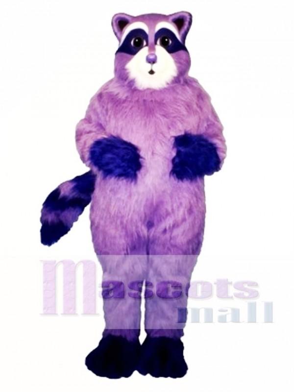 Purple Raccoon Mascot Costume