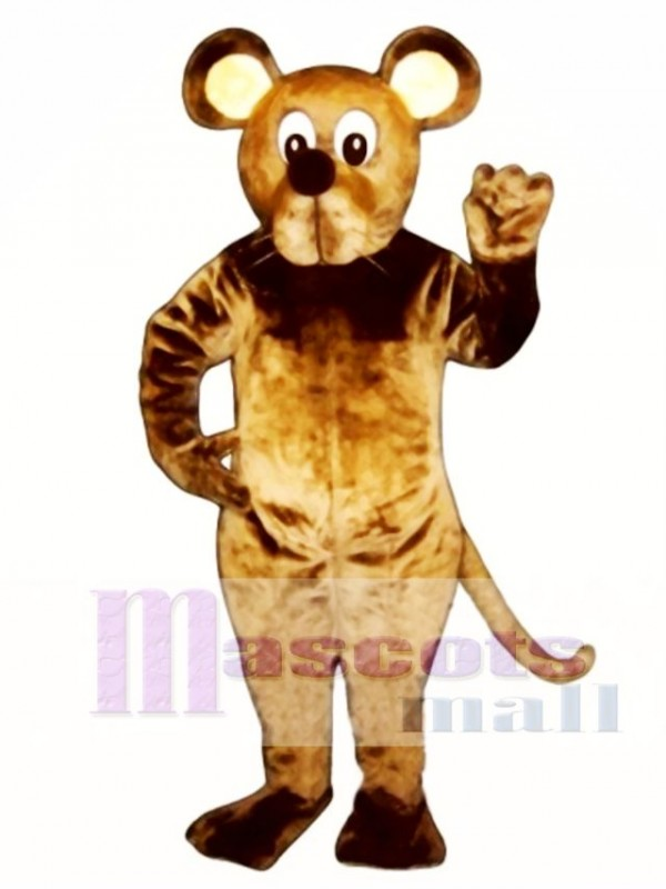 Brown Mouse Mascot Costume