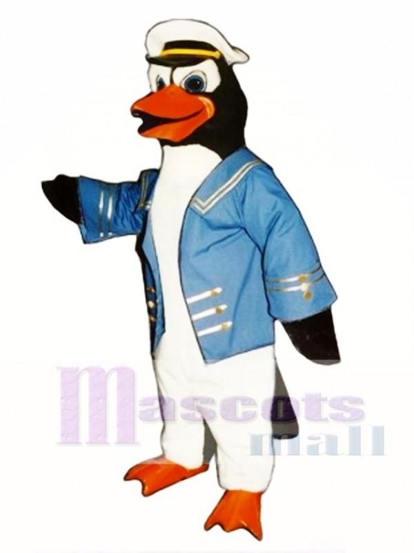 Cute Admiral Perry Penguin Mascot Costume
