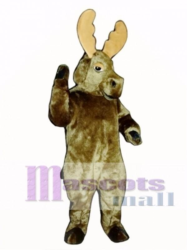 Cute Realistic Moose Mascot Costume