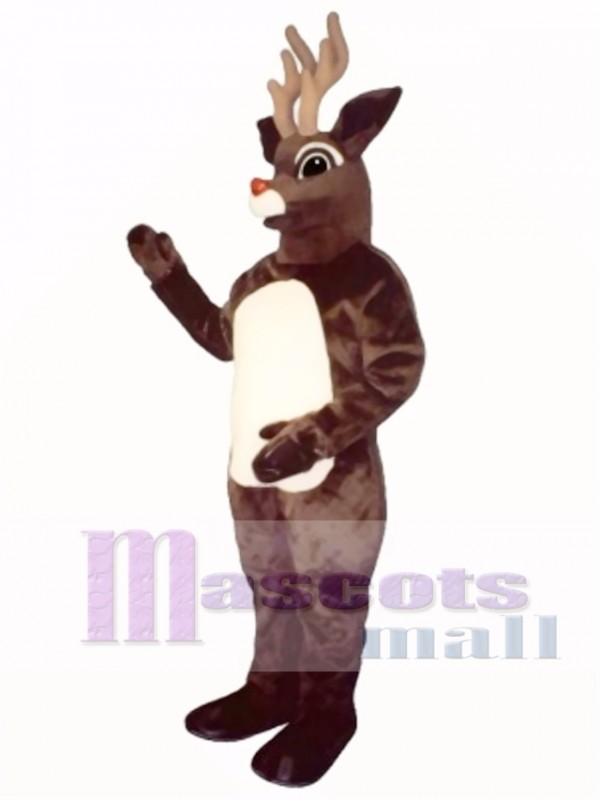 Sled Deer with Lite-Up Nose Mascot Costume