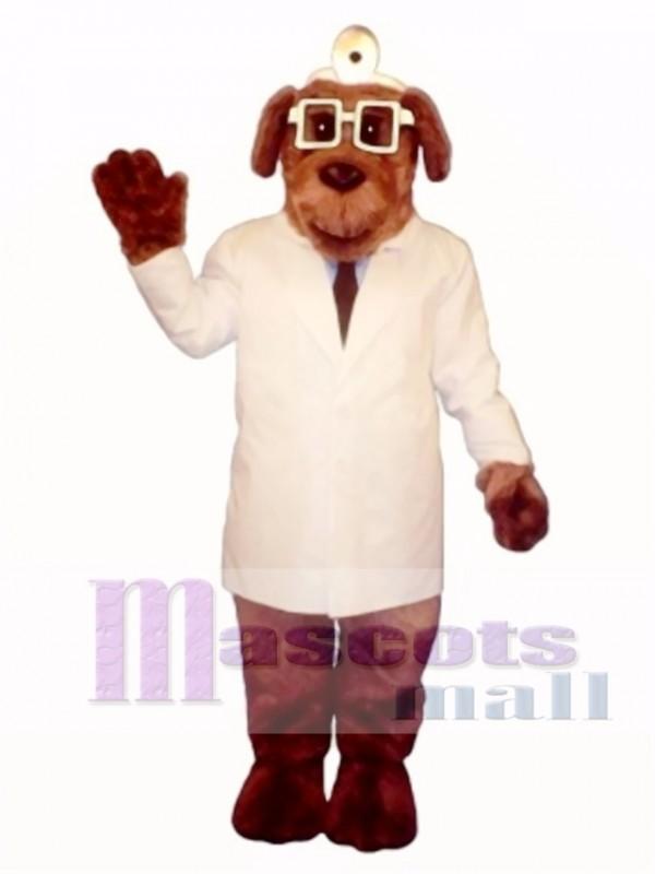 Cute Dr. Mutt Dog Mascot Costume