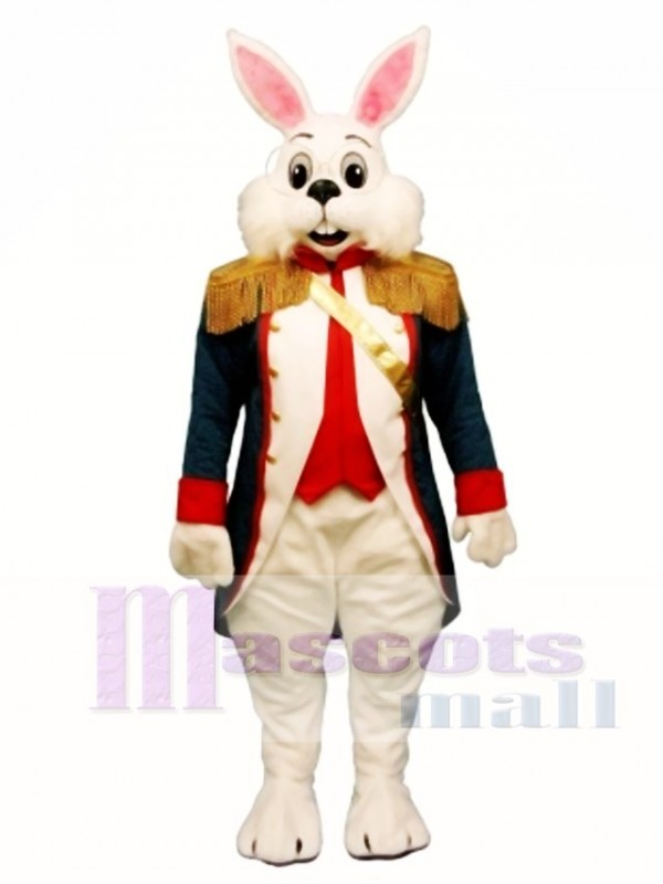 Cute Easter Colonel Wendall Bunny Rabbit Mascot Costume