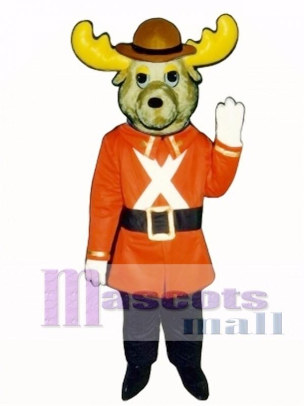 Cute Mountie Moose Mascot Costume