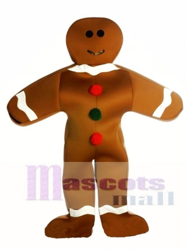Gingerbread Man Christmas Mascot Costume
