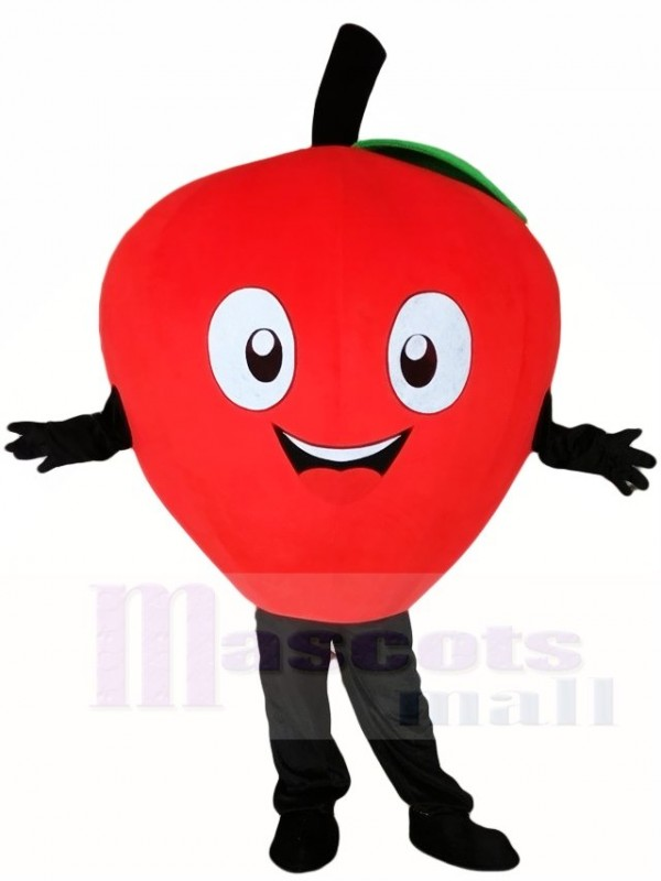 Red Apple Mascot Costumes Plant Fruit