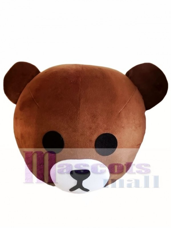 Brown Bear Mascot HEAD ONLY Line Town Friends